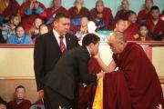 Дээрхийн гэгээнтэн Далай лам оюутан залуучуудтай уулзав. Улаанбаатар, Монгол. 2011 оны 11 сарын 8. Фото: Игорь Янчоглов