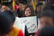 На торжественной церемонии, посвященной 53-й годовщине Тибетского народного восстания. Дхарамсала, Индия. 10 марта 2012 г. Фото: Тензин Чойджор (Офис ЕСДЛ)