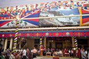 Его Святейшество Далай-лама выступает с речью по случаю своего 77-летия. 6 июля 2012. Дхарамсала, Индия. Фото: Тензин Чойджор