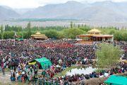 Вид на площадку, где проходили четырехдневные учения Его Святейшества Далай-ламы в Лехе, Ладак. Штат Джамму и Кашмир, Индия. 5 августа 2012 г. Фото: Namgyal AV Archive