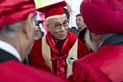 Дээрхийн Гэгээнтэн Далай лам Химачал Прадешийн Централ Их Сургуульд зочилов