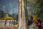 Статуя Будды Шакьямуни неподалеку от места проведения учений Его Святейшества Далай-ламы в парке «Будда Джаянти». Нью-Дели, Индия. 9 марта 2013 г. Фото: Тензин Чойджор (офис ЕСДЛ).