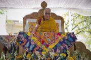 Его Святейшество Далай-лама дарует учения в парке «Будда Джаянти», организованные Тибетским домом и центром медитации «Тушита». Нью-Дели, Индия. 9 марта 2013 г. Фото: Тензин Чойджор (офис ЕСДЛ).
