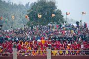 Хурсан олон Дээрхийн Гэгээнтний айлдварыг сонсож байгаа нь. Энэтхэг, Сикким, Равангла. 2013.03.25 Зураг/Тензин Чойжор/ДЛО