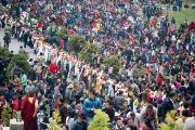 Дээрхийн Гэгээнтэн Далай Ламд Бат-Оршил өргөх үеэр. Энэтхэг, Сикким, Равангла. 2013.03.26. Зургийг Тэнзин Чойжор (ДЛО)