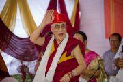 Его Святейшество Далай-лама в традиционном местном тюрбане во время открытия Тибетского павильона в музее истории Индии им. Шиваджи Махараджи в Пуне. Махараштра, Индия. 28 июля 2013 г. Фото: Тензин Чойджор (офис ЕСДЛ)