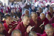 Последний из трех дней учений, дарованных Его Святейшеством Далай-ламой по просьбе буддистов из Юго-Восточной Азии в главном тибетском храме в Дхарамсале, Индия. 5 сентября 2013 г. Фото: Лобсанг Церинг (офис ЕСДЛ)