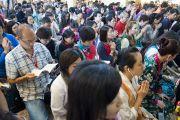 На трехдневные учения Его Святейшества Далай-ламы, дарованные по просьбе буддистов из Юго-Восточной Азии, собрались слушатели из более 61 страны. Дхарамсала, Индия. 5 сентября 2013 г. Фото: Лобсанг Церинг (офис ЕСДЛ)