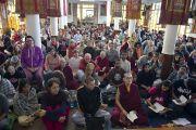 На трехдневные учения Его Святейшества Далай-ламы, дарованные по просьбе буддистов из Юго-Восточной Азии, собрались слушатели из более 61 страны. Дхарамсале, Индия. 5 сентября 2013 г. Фото: Лобсанг Церинг (офис ЕСДЛ)