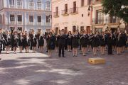 Выступление оркестра на площади перед церковью Св.Августина в честь визита Его Святейшества Далай-ламы. Сакатекас, Мексика. 16 октября 2013 г. Фото: Джереми Рассел (офис ЕСДЛ)