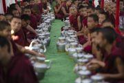 Заключительный день учений Его Святейшества Далай-ламы в монастыре Сера Чже. Билакуппе, штат Карнатака, Индия. 3 января 2014 г. Фото: Тензин Чойджор (офис ЕСДЛ)