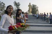 В Нагалоке ожидают прибытия Его Святейшества Далай-ламы. Нагпур, штат Махараштра, Индия. 8 января 2014 г. Фото: Тензин Чойджор (офис ЕСДЛ)