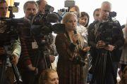 На пресс-конференции Его Святейшества Далай-ламы в Риге. 6 мая 2014 г. Фото: Тензин Чойджор (офис ЕСДЛ)