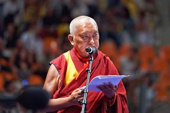 Далай-лама прочел публичную лекцию об этике сострадания в Ливорно