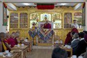 Его Святейшество Далай-лама выступает во время приветственной церемонии в своей резиденции в Лехе. Ладак, штат Джамму и Кашмир, Индия. 17 июня 2014 г. Фото: Тензин Пхунцок (офис ЕСДЛ)