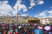 Первый день учений Его Святейшества Далай-ламы в Падуме. Занскар, штат Джамму и Кашмир, Индия. 23 июня 2014 г. Фото: Тензин Чойджор (Офис ЕСДЛ)