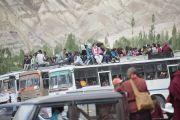 Местные жители разъезжаются из Ликира по окончании учений Его Святейшества Далай-ламы. Ладак, штат Джамму и Кашмир, Индия. 1 июля 2014 г. Фото: Тензин Чойджор (офис ЕСДЛ)