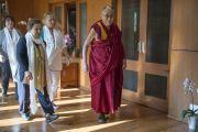 Лауреаты Нобелевской премии мира: Джоди Уильямс, Ширин Эбади и Его Святейшество Далай-лама в резиденции Далай-ламы в Дхарамсале, Индия. 2 октября 2014 г. Фото: Тензин Чойджор (офис ЕСДЛ)