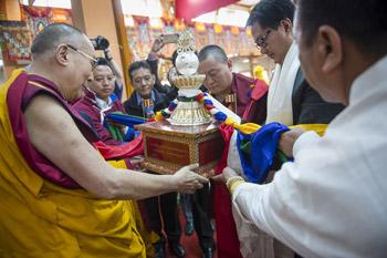 Празднование годовщины учений, дарованных в Таванге, молитва о долголетии Его Святейшества и продолжение учений по ламриму