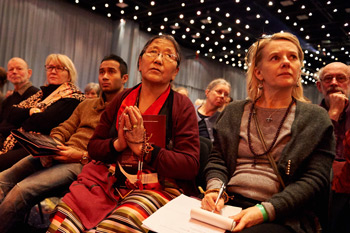 В Копенгагене Далай-лама даровал учения по сочинению геше Лангри Тангпы «Восемь строф о преобразовании ума»