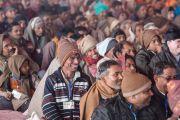 На двухдневных учениях Его Святейшества Далай-ламы в Молодежном буддийском обществе присутствовали более 20 тысяч человек. Санкиса, штат Уттар-Прадеш, Индия. 1 февраля 2015 г. Фото: Тензин Чойджор (офис ЕСДЛ)