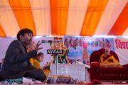 Двухдневные учения Его Святейшество Далай-ламы в Молодежном буддийском обществе шли с переводом на хинди. Санкиса, штат Уттар-Прадеш, Индия. 1 февраля 2015 г. Фото: Тензин Чойджор (офис ЕСДЛ)