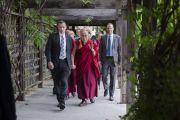 "Его Святейшество Далай-лама в центре ""Живой мир"" при Университете Калифорнии. Ирвайн, штат Калифорния, США. 7 июля 2015 г. Фото: Тензин Чойджор (офис ЕСДЛ)"