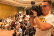 На пресс-конференции Его Святейшества Далай-ламы в Висбадене. Гессен, Германия. 12 июля 2015 г. Фото: Мануэль Бауэр
