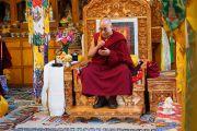 Его Святейшество Далай-лама в монастыре Спитук. Ле, Ладак, штат Джамму и Кашмир, Индия. 27 июля 2015 г. Фото: Тензин Чойджор (офис ЕСДЛ)