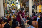 Дээрхийн Гэгээнтэн Зүүн Өмнөд Азийн сүсэгтнүүдэд ном айлдав. Энэтхэг, Дарамсала. 2015.09.08