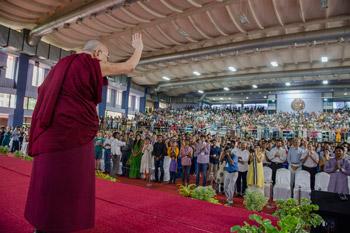 Далай-лама побеседовал со студентами Индийского технологического института в Ченнаи