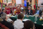 Түвдэн Жинба буддын гүн ухааны үүднээс илтгэл тавив. Энэтхэг, Карнатака, Билакуппе, Сера хийд. 2015.12.14. Гэрэл зургийг Тэнзин Чойжор (ДЛО)