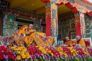 Третий день учений Его Святейшества Далай-ламы в монастыре Ташилунпо. Билакуппе, штат Карнатака, Индия. 22 декабря 2015 г. Фото: Тензин Чойджор (офис ЕСДЛ)