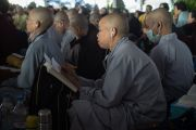 Монахи и монахини из Вьетнама на учениях Его Святейшества Далай-ламы по 18 коренным текстам и комментариям традиции Ламрим в монастыре Ташилунпо. Билакуппе, штат Карнатака, Индия. 25 декабря 2015 г. Фото: Тензин Чойджор (офис ЕСДЛ)
