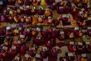 22,000 гаруй лам хуврагууд Дээрхийн Гэгээнтэн Далай Ламын номын айлдварт сууж байгаа нь. Энэтхэг, Карнатака, Билакуппе, Дашлхүнбо хийд. 2015.12.23. Гэрэл зургийг Тэнзин Чойжор (ДЛО)