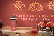 Известный юрист и член парламента Рам Джетхмалани выступает на встрече, посвященной прошедшему 80-летию Его Святейшества Далай-ламы. Дели, Индия. 4 января 2016 г. Фото: Тензин Чойджор (офис ЕСДЛ)