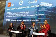Дээрхийн Гэгээнтэн Далай Лам хүний эрхийн сэдэвт хурал дээр үг хэлж байгаа нь. Швейцарь, Женев. 2016.03.11. Гэрэл зургийг Оливер Адам