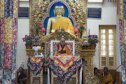 Его Святейшество Далай-лама во время второго дня трехдневных учений для тибетской молодежи. Дхарамсала, Индия. 2 июня 2016 г. Фото: Тензин Чойджор (офис ЕСДЛ)