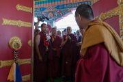 Его Святейшество Далай-лама освящает новый молитвенный зал монастыря Нгагьюр Дактог. Ладак, штат Джамму и Кашмир, Индия. 5 августа 2016 г. Фото: Тензин Чойджор (офис ЕСДЛ)