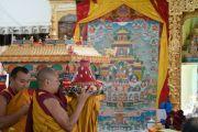Церемония подношения Его Святейшеству Далай-ламе молебна о долгой жизни в его резиденции Шивацель Пходранг в Чогламсаре. Ладак, штат Джамму и Кашмир, Индия. 13 августа 2016 г. Фото: Тензин Чойджор (офис ЕСДЛ)
