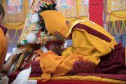 Дүйнхорын авшиг хүртээсний их баярын ёслол ба даншүг өргөх ёслол. Энэтхэг, Бихар, Бодьгаяа. 2017.01.14.