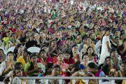 Анхдугаар хуралд 10,000 гаруй оролцогсод идэвхтэй оролцов. Энэтхэг, Андра Прадеш, Вижейвада. 2017.02.10. Гэрэл зургийг Тэнзин Чойжор (ДЛО)