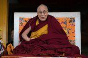 Его Святейшество Далай-лама дарует наставления во время церемонии празднования первого официального Дня тибетских женщин, приуроченного к годовщине восстания тибетских женщин. Дхарамсала, Индия. 12 марта 2017 г. Фото: Тензин Чойджор (офис ЕСДЛ)