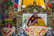 Его Святейшество Далай-лама дарует посвящение Авалокитешвары. Дхарамсала, Индия. 14 марта 2017 г. Фото: Тензин Чойджор (офис ЕСДЛ)