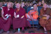 Буддийские духовные лидеры во время открытия трехдневной международной конференции, посвященной роли буддизма в 21-м веке. Раджгир, штат Бихар, Индия. 17 марта 2017 г. Фото: Тензин Чойджор (офис ЕСДЛ)