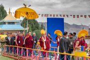 Его Святейшество Далай-лама направляется в монастырь Гонце Рагьял Линг. Бомдила, штат Аруначал-Прадеш, Индия. 5 апреля 2017 г. Фото: Тензин Чойджор (офис ЕСДЛ)