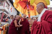 Его Святейшество Далай-лама прибывает в монастырь Таванг. Таванг, штат Аруначал-Прадеш, Индия. 7 апреля 2017 г. Фото: Тензин Чойджор (офис ЕСДЛ)