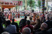 Төвөдийн эмэгтэйчүүд уламжлалт дуу бүжгийн тоглолт үзүүлэв. Энэтхэг, ХП, Дарамсала. 2017.05.10. Гэрэл зургийг Тэнзин Чойжор (ДЛО)