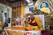 Его Святейшество Далай-лама дарует учения по просьбе тибетской молодежи. Дхарамсала, Индия. 6 июня 2017 г. Фото: Тензин Чойджор (офис ЕСДЛ)