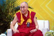 Дээрхийн Гэгээнтэн Далай Лам асуултанд хариулж байгаа нь. АНУ, Калифорниа, Сан Диего. 2017.06.16. Гэрэл зургийг Жереми Рассел (ДЛО)